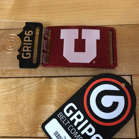 Utah Grip 6 Block U Red Buckle - Utah Sports Collective