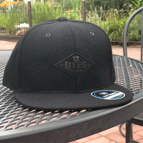 Utah Top Of The World Fly 1 Black Adjustable Wool Hat