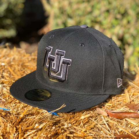 Utah Utes New Era 5950 Black Shadow UU Hat