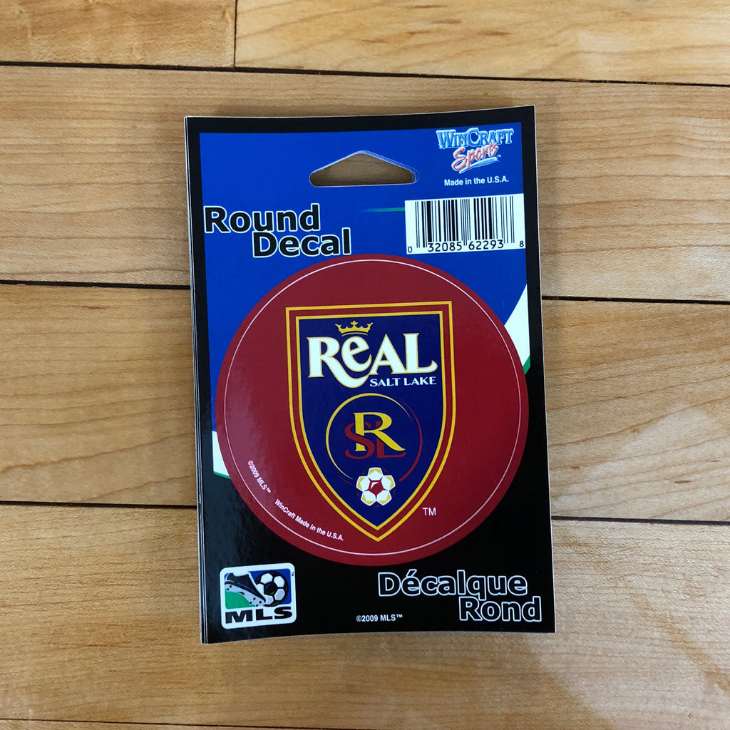 Real Salt Lake Round Decal - Utah Sports Collective