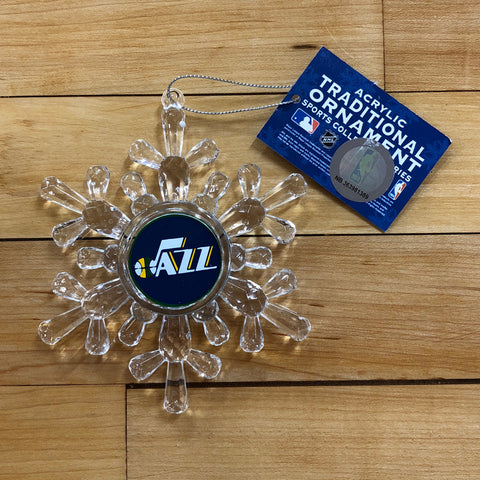 Jazz Snowflake Ornament - Utah Sports Collective