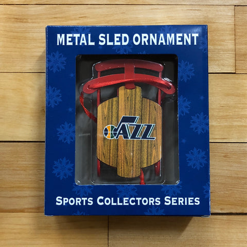 Jazz Sled Ornmt - Utah Sports Collective