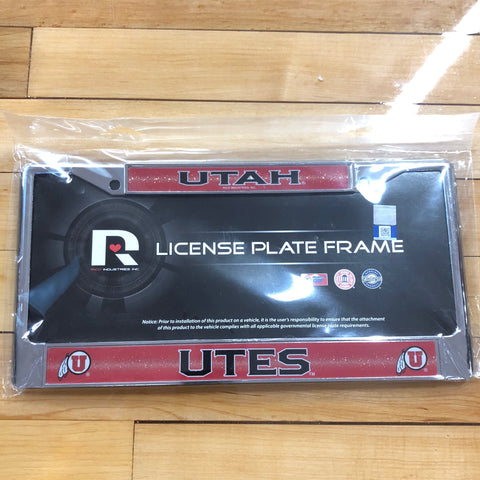 Utah Bling License Plate Frame - Utah Sports Collective