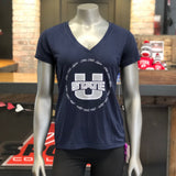 USU Women's Navy Utah State V-Neck Tee - Utah Sports Collective