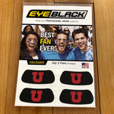 Utah Eye Black Block U face sticker - Utah Sports Collective