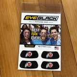 Utah Eye Black Drum and Feather face sticker - Utah Sports Collective