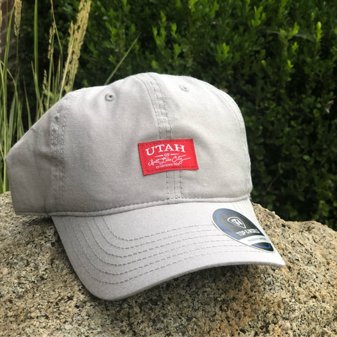Utah Top Of The World Ante Light Grey Adjustable Hat