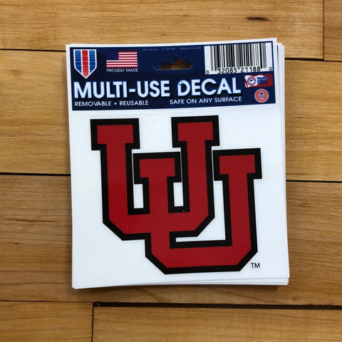 "Utah UU Decal 3"" - Utah Sports Collective"