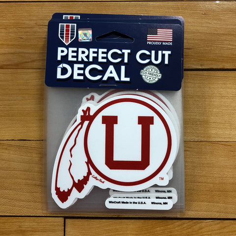 Utah Vault Perfect Cut Decal 4x4 - Utah Sports Collective