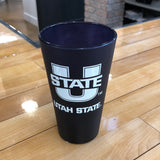 USU 16oz Frost Pint Glass - Utah Sports Collective