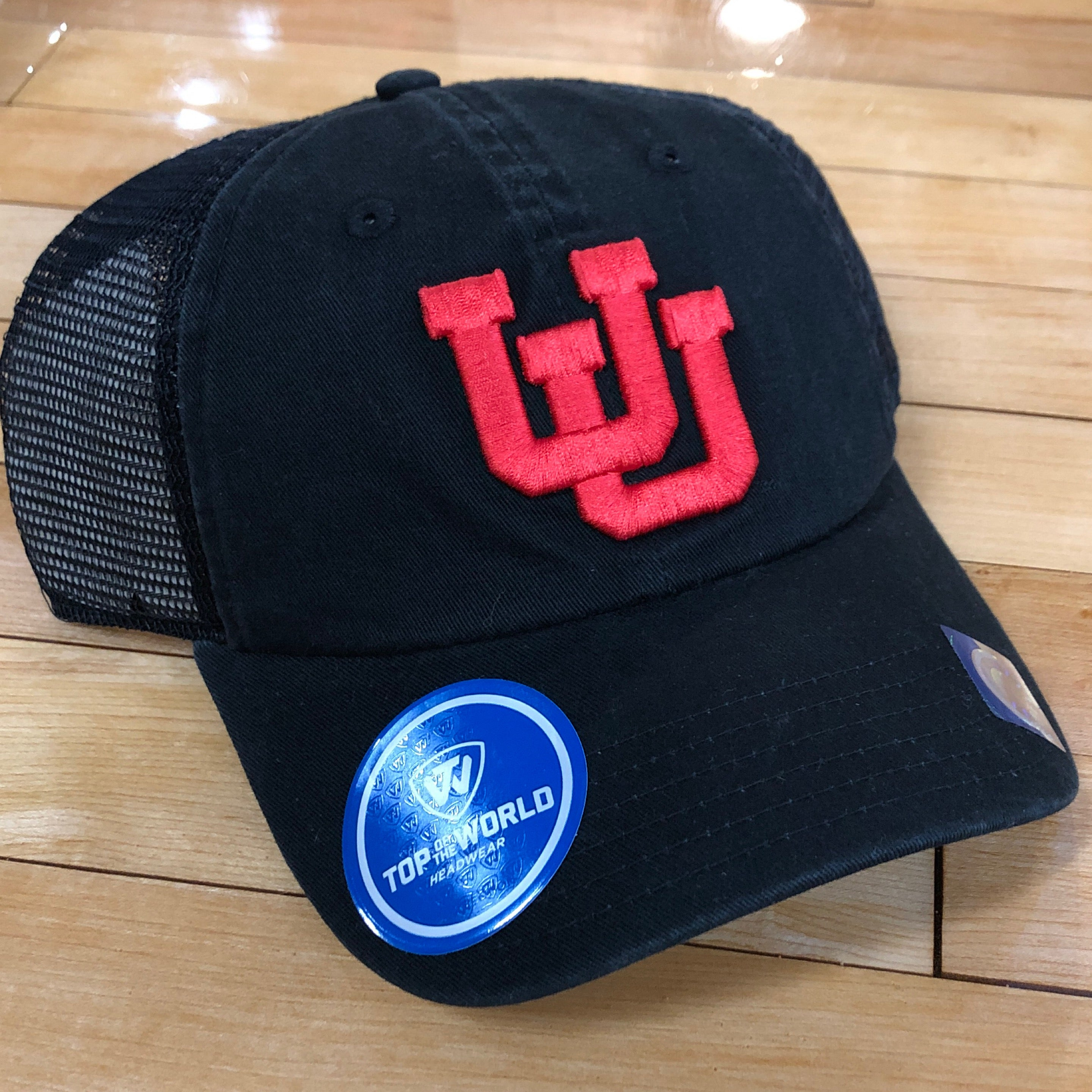 a8301872ed0 Utah Top of the World Backroad UU Blk Blk blk hat – Utah Sports ...