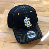 Bees new era 3930 hat Black Neo Bee flexfit - Utah Sports Collective