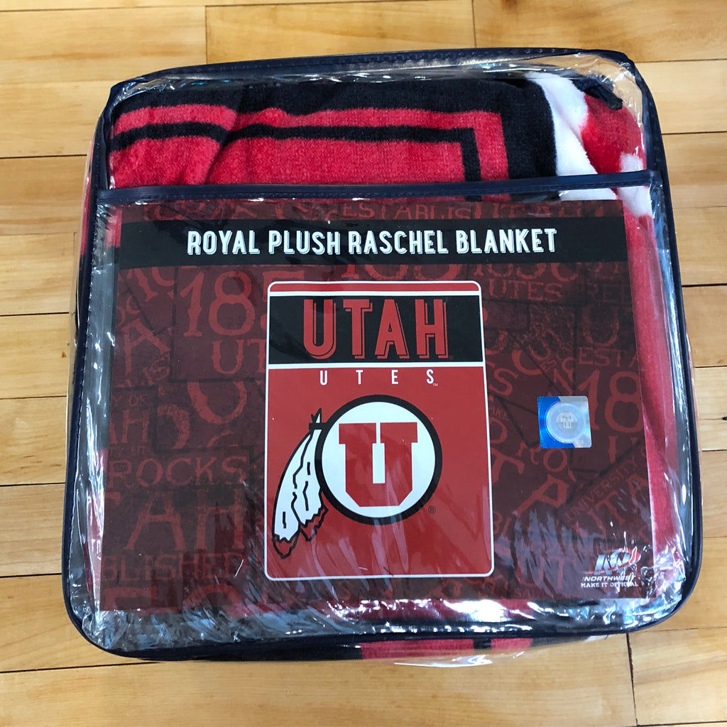 Utah Plush Raschel Blanket - Utah Sports Collective