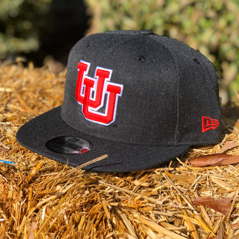 Utah Utes New Era 950 Heather Black Red UU Snapback