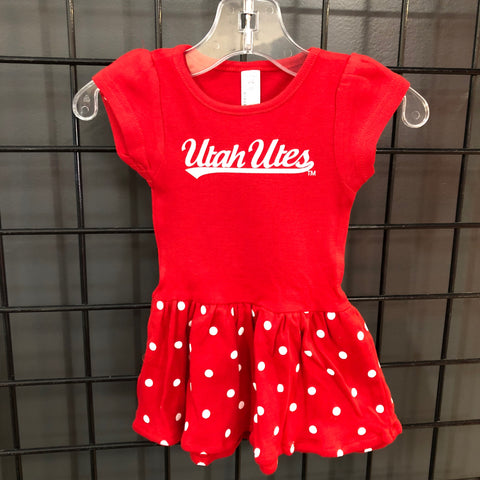 Utah Polka Dot Infant Dress - Utah Sports Collective