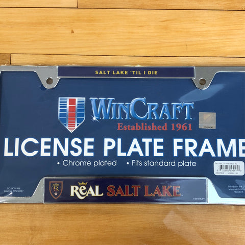 RSL Metal Plate Frame - Utah Sports Collective