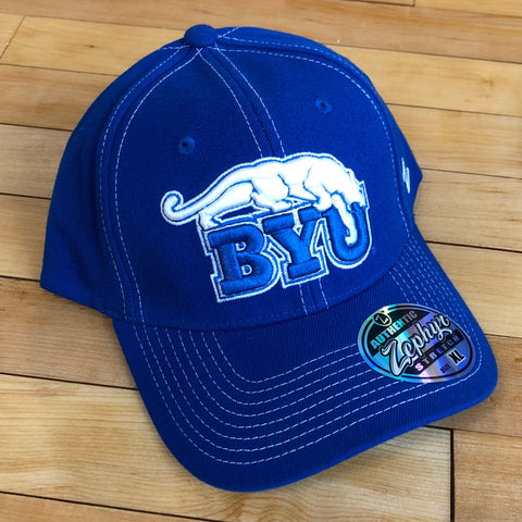 BYU Zephyr hat BYU Royal flexfit - Utah Sports Collective