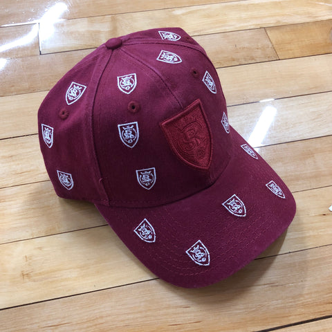 RSL New Era Maroon Scatter Logo Adjustable - Utah Sports Collective