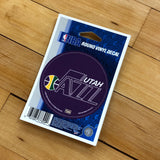 Jazz Round Vinyl Decal Prpl - Utah Sports Collective