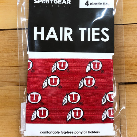 Utah Drum And Feather Elastic Hair Ties 4pk - Utah Sports Collective