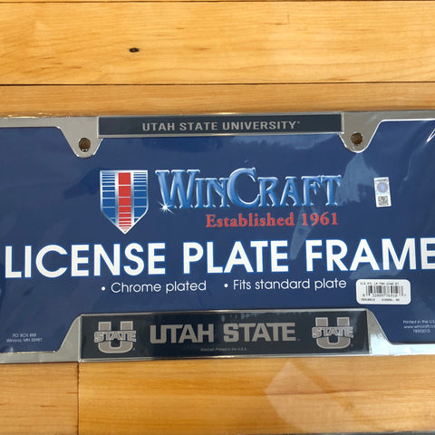 USU Metal Plate Frame - Utah Sports Collective