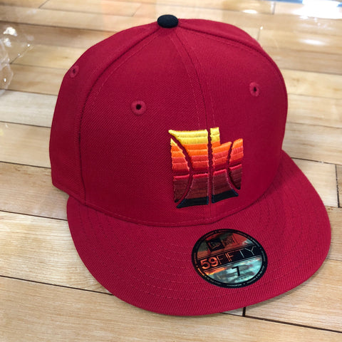 Jazz New Era 5950 hat Red State fitted - Utah Sports Collective
