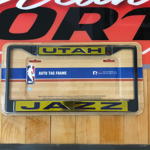 Jazz Black Laser Chrome Frame - Utah Sports Collective