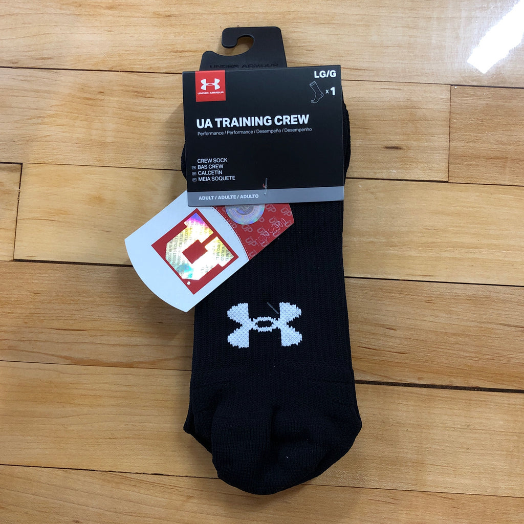 Utah Under Armour Black Drum And Feather Training Crew Long Socks