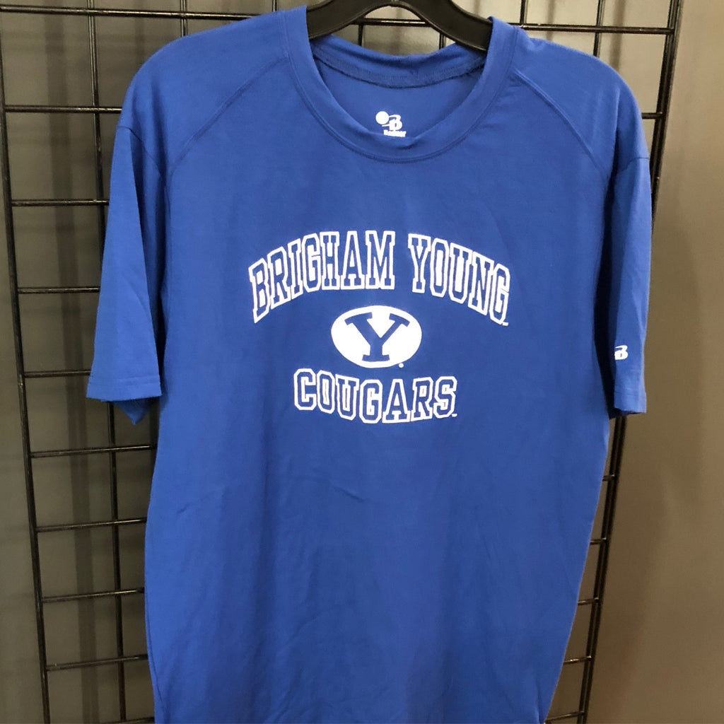 BYU Badger Sport mens blue Tech Tee - Utah Sports Collective