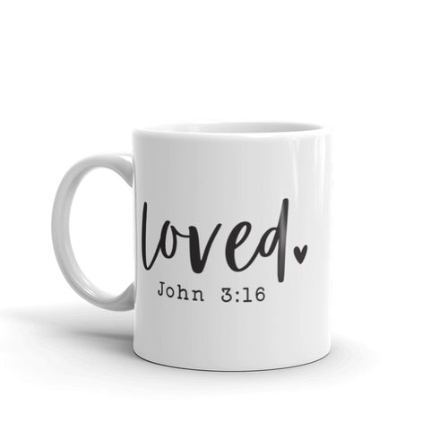 Loved John 3:16 Ceramic Mug
