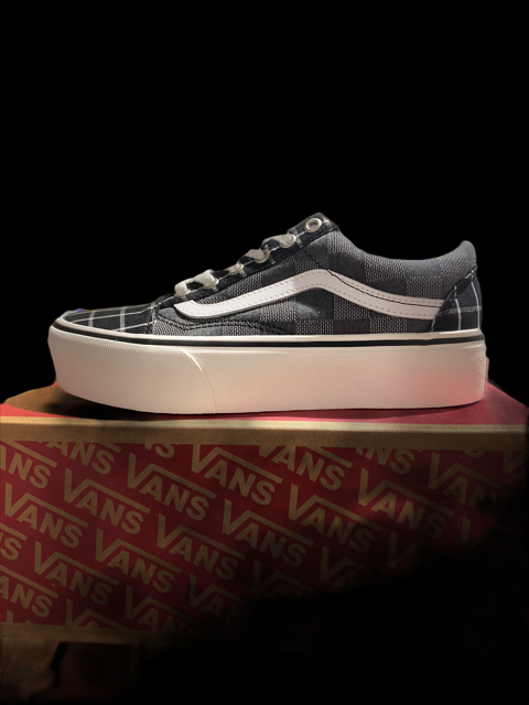 Vans Old Skool Platform Woven Check