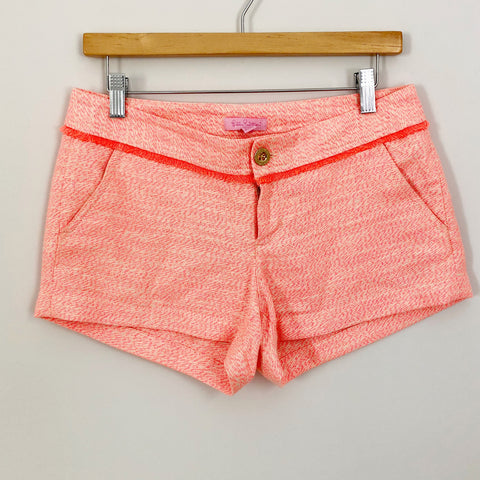 Lilly Pulizter Bright Coral/Orange Shorts -Size 2