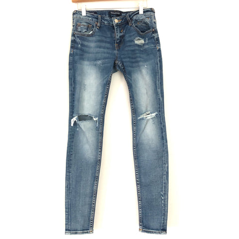 "Vigoss The Jagger Distressed Skinny Jeans With Knee Holes- Size 26 (Inseam 30"")"