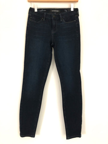 "Liverpool The Ankle Hugger Dark Blue Jeans NWT- Size 0/25 (Inseam 27"")"