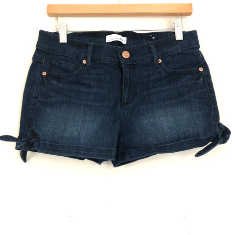 LOFT Dark Blue Jean Shorts With Ties- Size 26