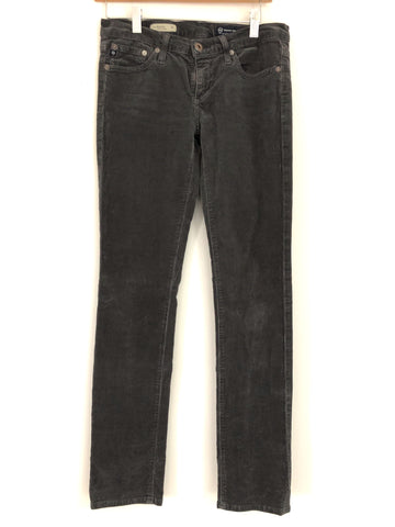"Adriano Goldschmied The Stevie Slim Straight Grey Corduroy Pants- Size 27 (Inseam 30"")"