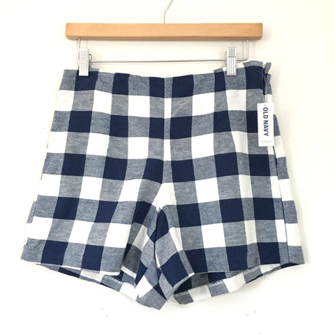 Old Navy High Rise Blue Gingham Shorts NWT- Size 4R