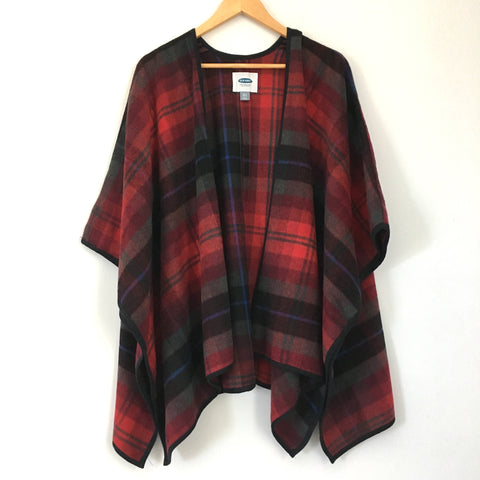 Old Navy Plaid Poncho- Size XS