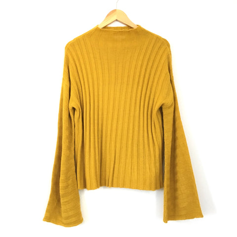 BP Mustard Mock Neck Sweater- Size S