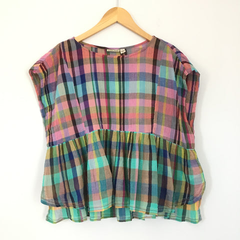 Holding Horses Plaid Top- Size XS