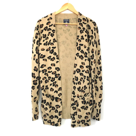 PINK by Victoria's Secret Cheetah Print Cardigan With Buttons- Size S
