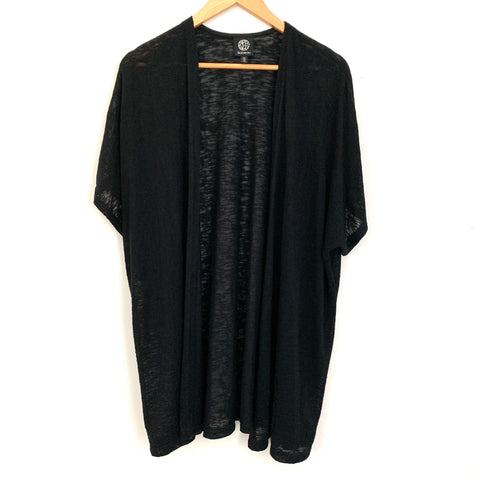 Bobeau Black Lightweight Short Sleeve Cardigan- Size XS