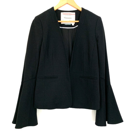Cartonnier Anthropologie Black Bell Sleeve Blazer- Size S