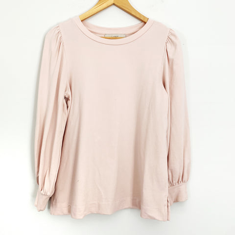 LOFT Blush Pink Long Sleeve Pullover Sweater Top- Size S