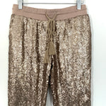 Evenuel Gold Sequin Jogger Pants NWT- Size S