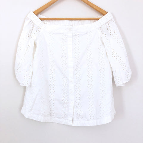 1.State Off the Shoulder Eyelet Top- Size XS