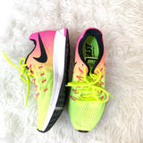 Nike Zoom Pegasus 33 Neon and Pink Shoes- Size 7