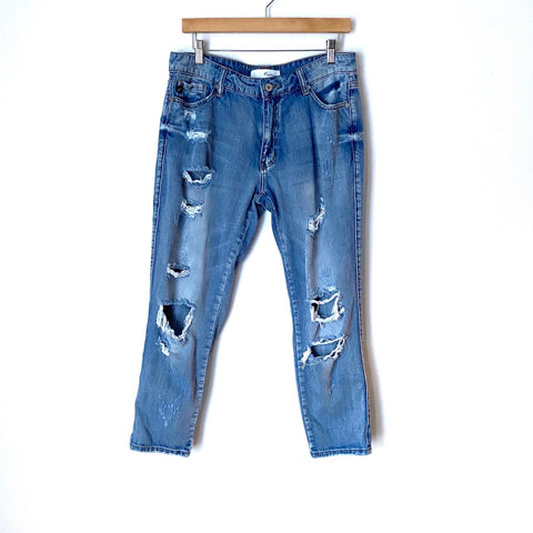 "Kancan Distressed High Waisted Skinny Jeans- Size 29 (Inseam 26"")"