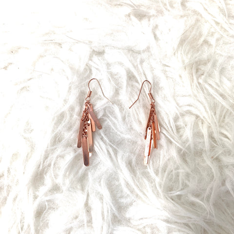 Topshop Rose Gold Earrings