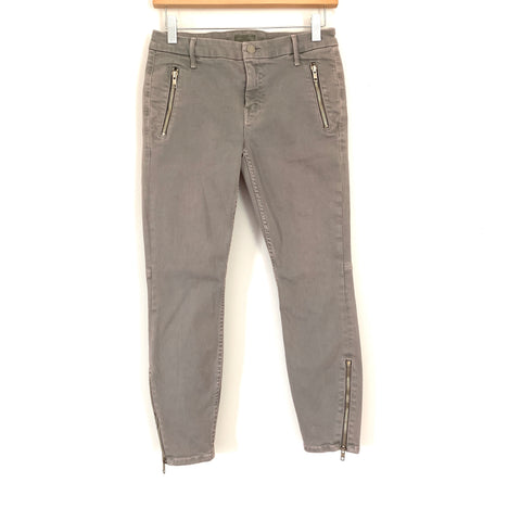 "MOTHER Denim Grey Skinny Jean with Zipper Ankle- Size 26 (Inseam 24.5"")"